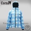 Hot selling women winter outdoor 100% polyester lightweight waterproof ski jacket