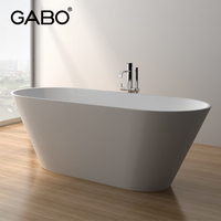 Factory Price Solid Artificial Marble Surface Bathtub, Bathtub Manufacturer