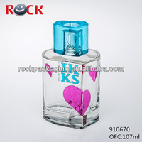 empty small glass bottles wholesale/fake perfume packaging bottle