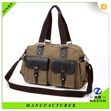 world fashionable unisex leisure canvas leather bag limited