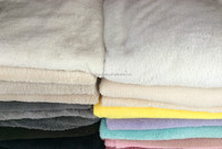 Hot Sale 100%Polyester Fabric Plain Dyed Solid Color Shu Velveteen Sherpa Fleece