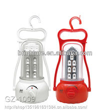 2015 Hot selling camping equipment emergency lights 32LED rechargeable led camping lantern