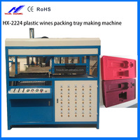 manual plastic wines packing tray forming making machine for plastic products with CE
