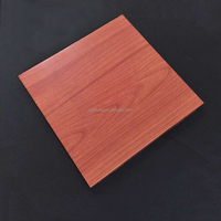 Wood Grain Aluminum Suspended Ceiling Board Home Decoration Ceiling Panel Clip In Ceiling