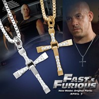 2015 Classical Stainless Steel Cross Necklace ,Fast And Furious 7 Necklace