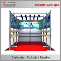 Customized solar led trade show exhibition display stands