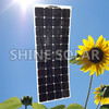 130W 18V Semi-flex Mono Solar Panel waterproof flexible solar panel light solar panel for special design
