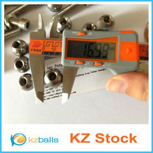 17mm Stainless Steel Drilled Ball / Beads