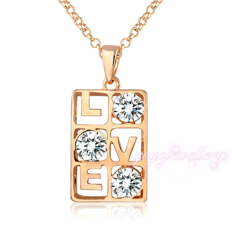 Jewelry Manufacturer China Women Necklace Gold Love Letter ...