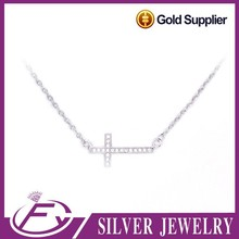 Party design cubic zirconia stone 925 sterling silver necklaces jewelry