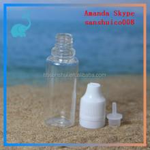 pet bottles with childproof cap for tobacco tar, 10ml ejuice/ eliquid bottle