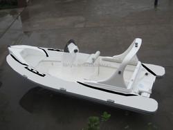 Liya 6.2m 6.6m deep V fiberglass hull Hypalon tube popular rib with CE boat