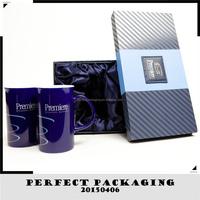 Customized Luxury Royal Faux Leather MDF Coffee Mug Gift Box