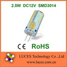 Hot selling 48smd 3014 12v ac/dc silicone G4 led light