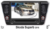 "(for Skoda Superb 2016) 8"" HD digital in-dash car GPS DVD player, with TV,radio, bluetooth, iPOD"