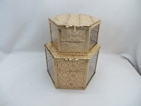 Golden Pretty Metal and Glass Storage Gift Box, Pretty Metal and Glass Jewelry Box