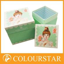 Classical beautiful foldable small kraft brown paper boxes