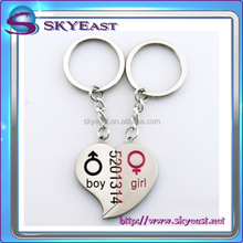 Special Design Love for Boy Girl Metal Key Holder and Keychains