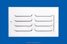 one way deflection air steel grille for return with muli-louver damper