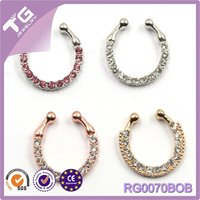 Gold Silver Nose Hoop Nose Rings clip on nose ring Body Fake Piercing Piercing Jewelry For Women
