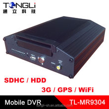 4CH MOBILE DVR with 3G and GPS tracker and WiFi, 4 channels D1 Resolution