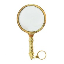 3x magnifier Loupe Glass lenses Metal handle Portable loupes handheld Magnifiers 90mm lens Magnifying glasses Art Collect