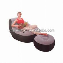 Modern design inflatable furniture flocked pvc air chair living room