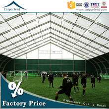 Deluxe waterproof fire resistant a frame outdoor basketball sports tents for 500 people white pvc roof