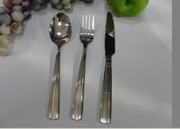 Names of cutlery set items combined spoon fork knife