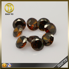 Round brilliant cut cubic zirconia brown zircon price