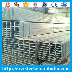 gi square tube&galvanized rectangular steel water tube or tubing