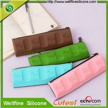 Chocolate soft silicone pencil case
