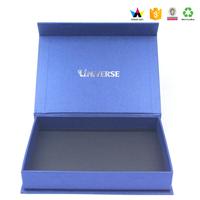 USB device/Credit Card/Pen Blue Paper Box With Black EVA