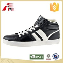 PU upper material lace-up fashion design man casual shoes
