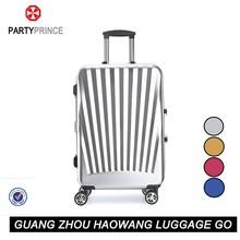 2015 cool lugagge suitcase aluminum sash abs+pc material trolley luggage
