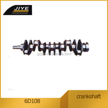 6D108 6222-31-1101 crankshaft , crankshaft bearing used for construction equipment parts