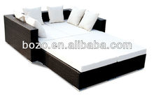 wholesale price outdoor synthetic rattan sectional sofa bed