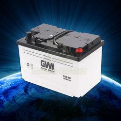 din auto battery 12v 66ah dry car battery