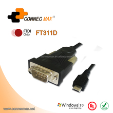 Micro USB to RS232 DB9 Serial Adapter Cable for OTG Android FT311D