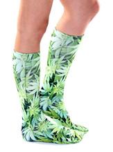 wholesale sublimated custom design weed socks