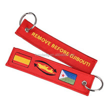 Insert Before Flight Embroidered Key Chains