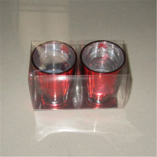 candle holder with gift box red candles that changes color