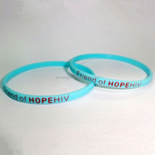 1/4 inch bracelet Twin colors skinny silicone wrist bands