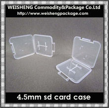 Plastic Packaging Boxes mini SD Card Case for custom sd memory card