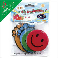 Custom shape car air fresheners with low price make hanging paper car auto air freshener