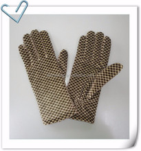 Low Price Velvet Gloves Small Dot Printed With Spunpolyester & C40 Thinsulate Lining