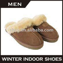 Comfortable woman slipper High-quality indoor double face sheepskin slipper