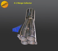 """SKP Racing Stainless Steel 4-1 Merge Collector 2.0"""" OD 3.5"""" OD Spec: Length: 12.5"""" Four pipes: 2.0"""" OD 1.925"""" ID Single pip"""