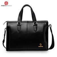 China Factory Partyprince Brand Mens Office Leather Messenger Bags