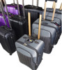 pure black 2 buit-in wheels, nylon travel case, business bag